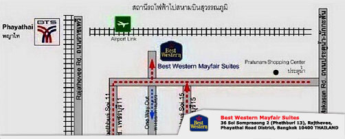 Map BEST WESTERN Mayfair Suites Bangkok
